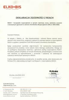 Декларація відповідності з REACH